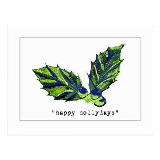 happy holidays card postcard