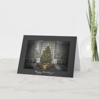 Happy Holidays Card - Rockefeller Center Tree card