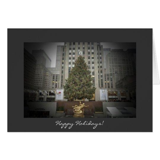 Happy Holidays Card - Rockefeller Center Tree