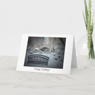 Happy Holidays Card - Snowy Scene card