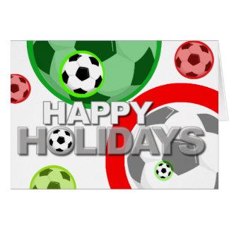 Happy Holidays Card Soccer Ball