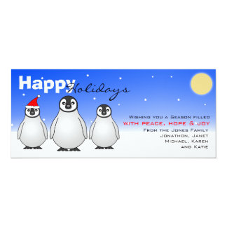Happy Holidays Card w/ Baby Penguins