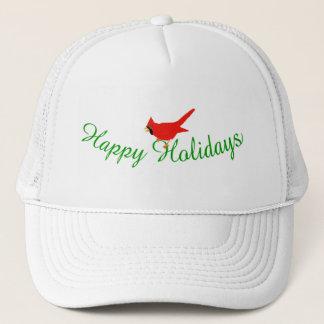 Happy Holidays Cardinal Cap