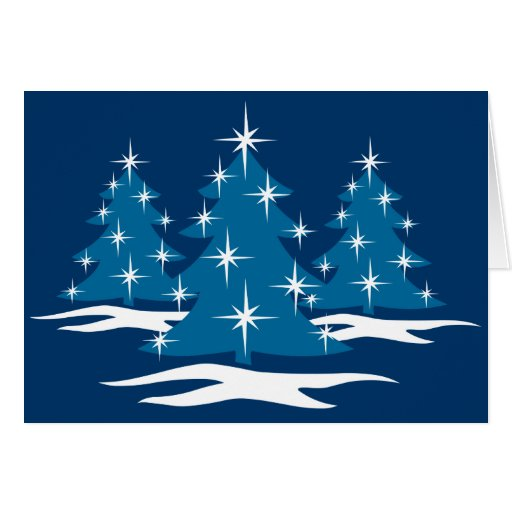 Happy Holidays Cards Classic Blue Christmas Cards