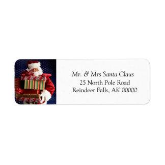 Happy Holidays Cards Self Adhesive Sticker Return Address Label