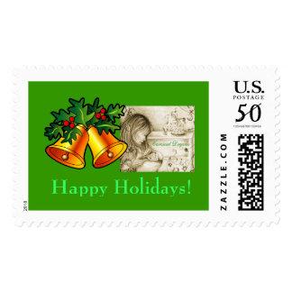 Happy Holidays Carousel Dreams Lg Christmas Stamp