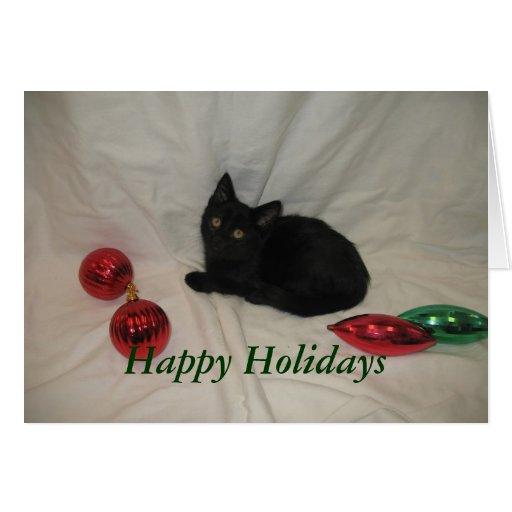 Happy Holidays Cat Card