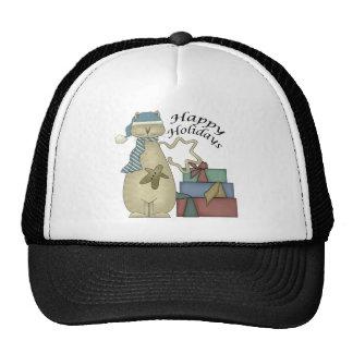 Happy Holidays Cat Mesh Hats