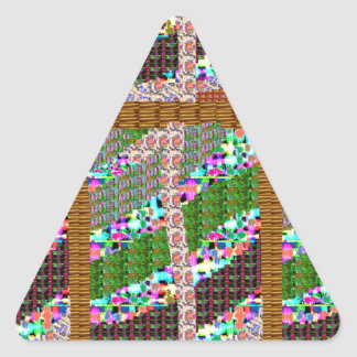 HAPPY Holidays Celebrations Art Xmas NewYear gifts Triangle Sticker