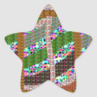 HAPPY Holidays Celebrations Art Xmas NewYear gifts Star Sticker