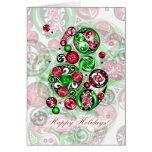 Happy Holidays Celtic Clockwork Card