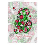 Happy Holidays Celtic Clockwork Greeting Card