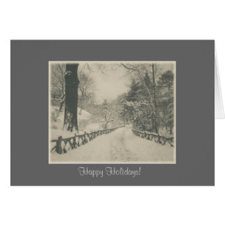 Happy Holidays - Central Park Winter Snow Card