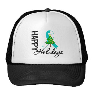 Happy Holidays Cervical Cancer Awareness Trucker Hat