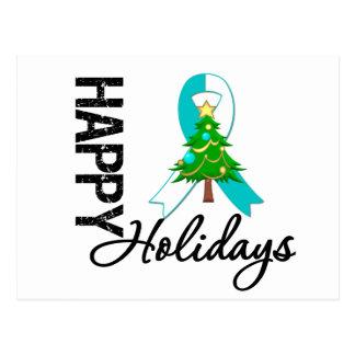 Happy Holidays Cervical Cancer Awareness Postcard