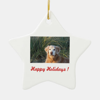 Happy Holidays ! - Chance Ceramic Ornament