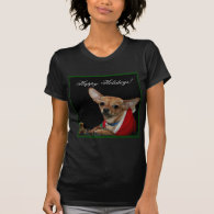 Happy Holidays Chihuahua Tshirt