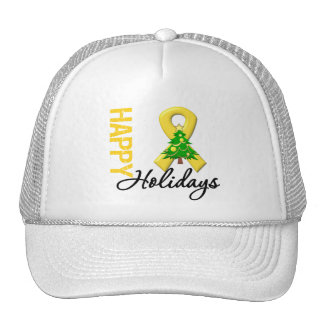 Happy Holidays Childhood Cancer Awareness Trucker Hat
