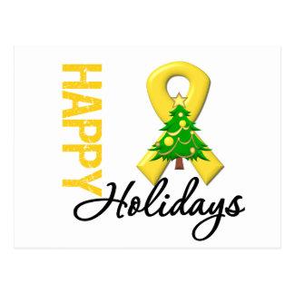 Happy Holidays Childhood Cancer Awareness Postcard