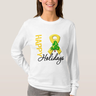Happy Holidays Childhood Cancer Awareness T-Shirt