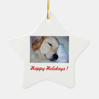 Happy Holidays ! - Chip Ceramic Ornament