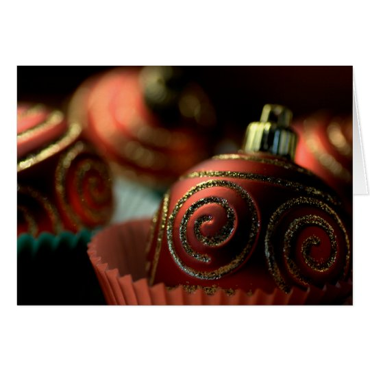 HAPPY HOLIDAYS - Chistmas Bauble Cupcakes Card