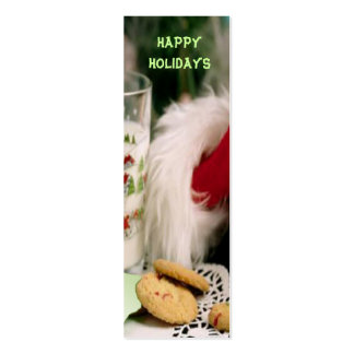 Happy Holidays Christmas Bookmark Double-Sided Mini Business Cards (Pack Of 20)