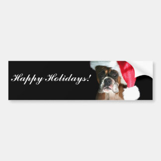 Happy Holidays Christmas Boxer Dog Bumper Stickers