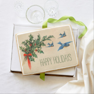 Happy Holidays Christmas Cookie Card