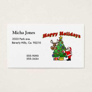 Happy Holidays Christmas Decorating Business Card