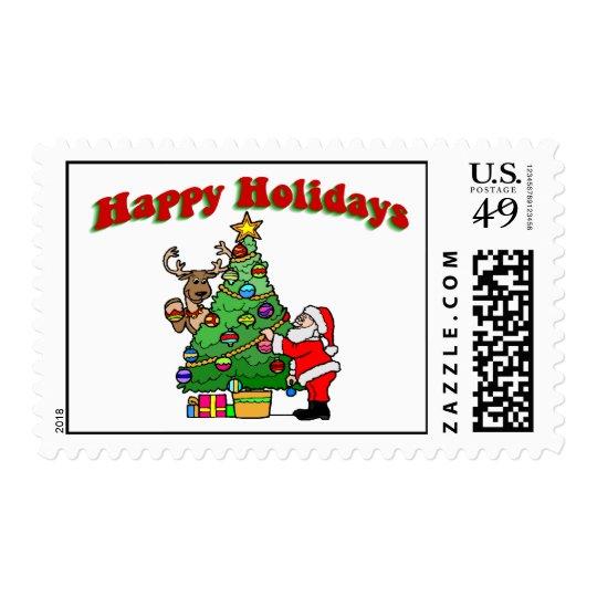 Happy Holidays Christmas Decorating Postage