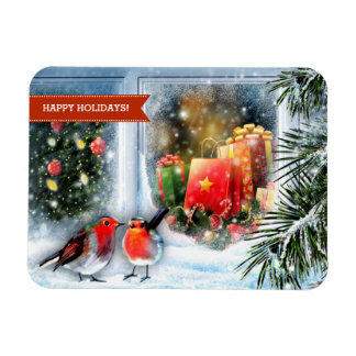 Happy Holidays. Christmas Gift Magnets