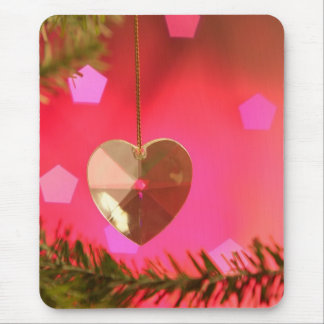 Happy Holidays Christmas Heart Mouse Pad