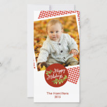 Happy Holidays Christmas Holiday Photo Photocard