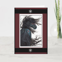 Happy Holidays Christmas Horse Card by Bihrle