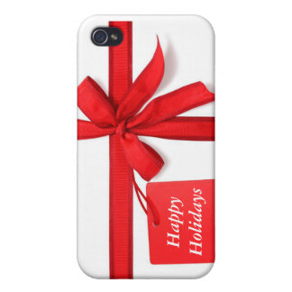 Happy Holidays Christmas i Case For iPhone 4