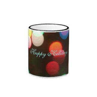 Happy Holidays Christmas Lights Coffee Mug