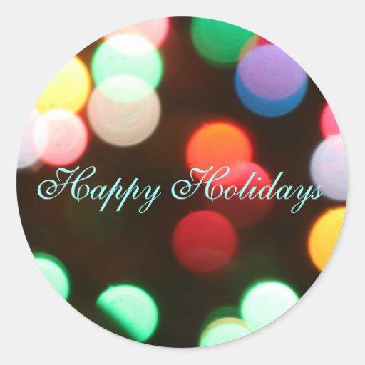 Happy Holidays Christmas Lights Envelope Sticker