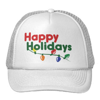 Happy Holidays Christmas Lights Hat