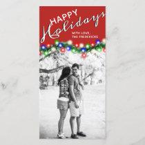 Happy Holidays Christmas Lights Photo Card