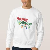 Happy Holidays Christmas Lights Sweatshirt