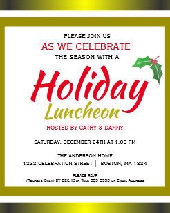 Luncheon Holiday Invitations Zazzle
