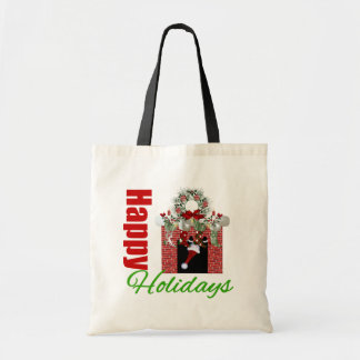 Happy Holidays Christmas Mantle Bags