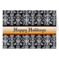 Happy holidays, Christmas, New Year greeting card. Greeting Cards