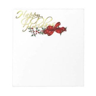 Happy Holidays Christmas Memo Note Pad