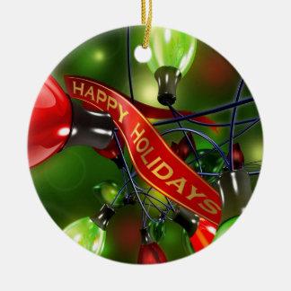 Happy Holidays Christmas Ornament