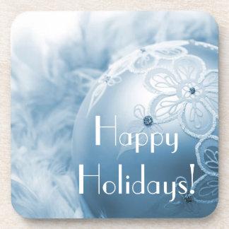 Happy Holidays Christmas Ornament Drink Coaster
