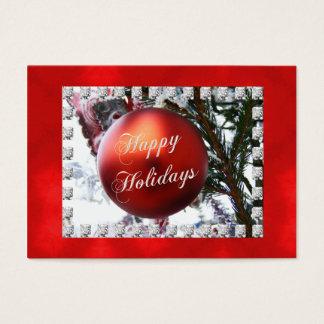 Happy Holidays Christmas Ornament Recipe Cards