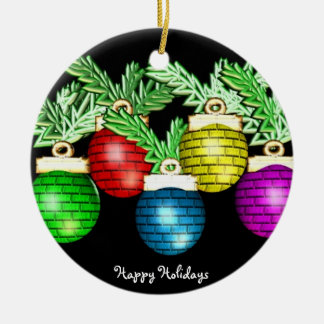 Happy Holidays Christmas Ornaments