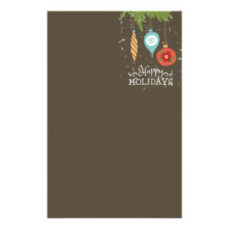 Happy Holidays Christmas Ornaments Decorative Stationery